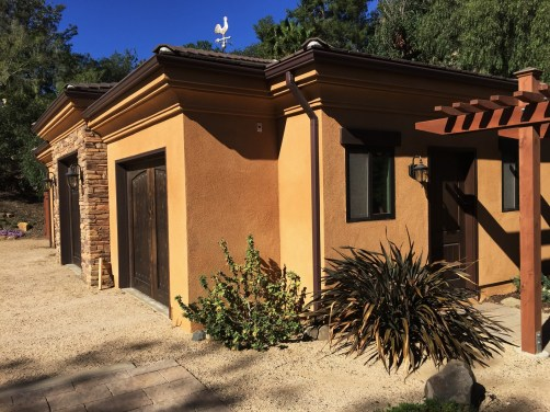 Home Remodel-Italian Ranch-Orange Acres-New Garage Side View