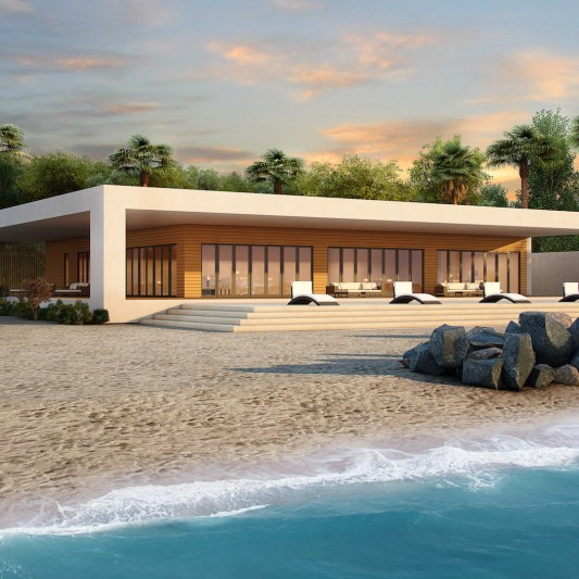 Realistic 3d renderings by Myles Nelson McKenzie Design-Custom Modern Home Design-Burns Malibu California