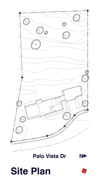 Myles Nelson McKenzie Design-A modern home design for property in Rancho Palos Verdes, California-Site Plan