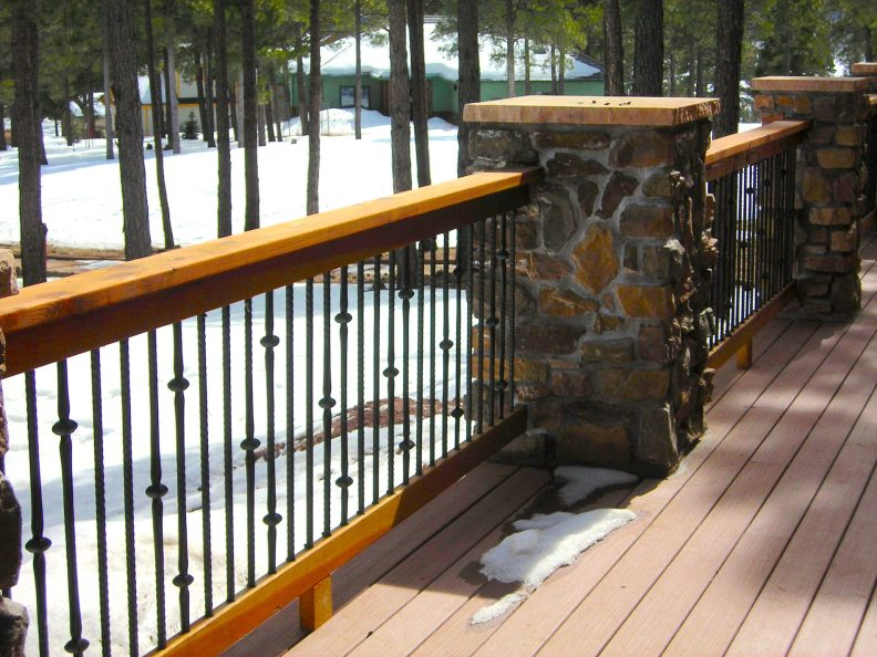 Myles Nelson McKenzie Design-Custom Rustic Home Design-4745 West Braided Rein, Flagstaff Arizona - Deck Handrail System