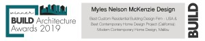 "Myles Nelson McKenzie Design won BUILD Magazine's 2019 ""Best Custom Residential Building Design Firm - USA"""
