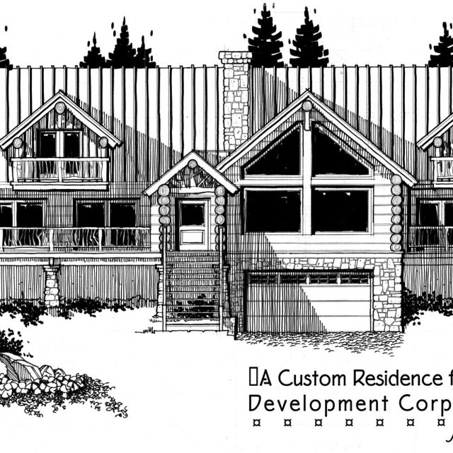 Custom Round Log Home Design-Sun Valley