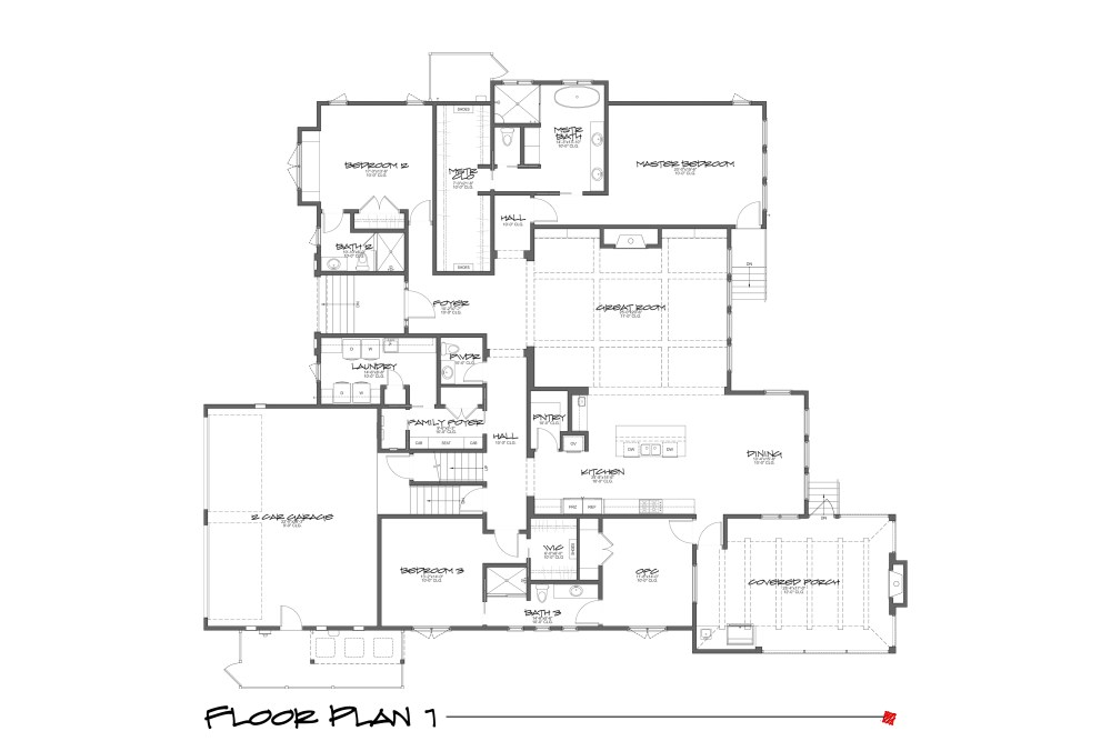 Myles Nelson McKenzie Design-Sea Pines Home Design-Floor Plan 1