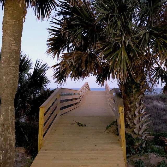 Beachfront Vacation Home Design-New beach sand dune boardwalk-Hilton Head Island, South Carolina
