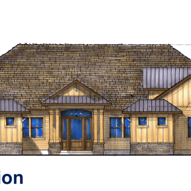 Myles Nelson McKenzie Design-Custom Home Design Bluffton, South Carolina-Color Exterior Elevation
