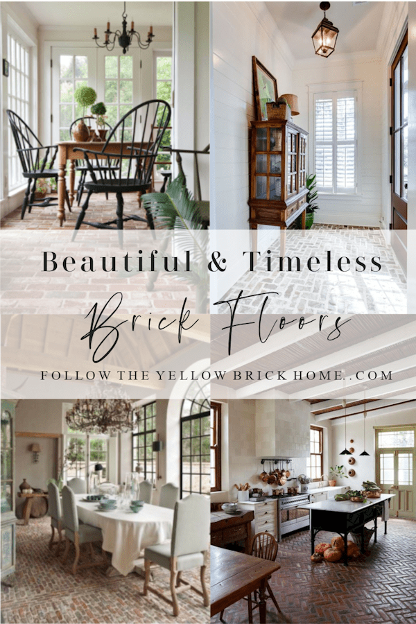 Beautiful and timeless brick floors.