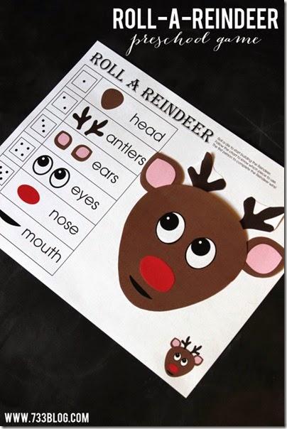 roll a reindeer printable game