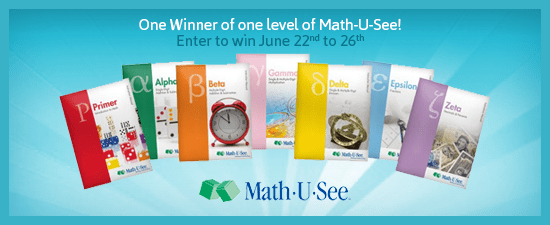 Math-U-See giveaway via My Life as a Rinnagade