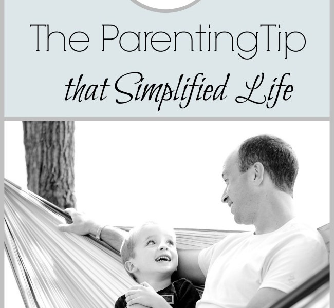 Kid of the Week: The Parenting Tip that Simplified Life