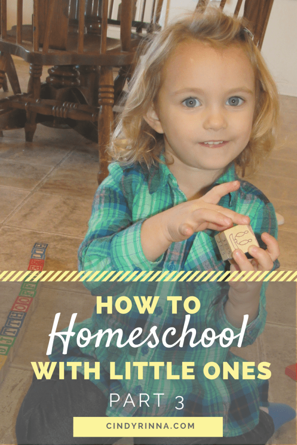 How to Homeschool with Little Ones Part 3 Cindy Rinna
