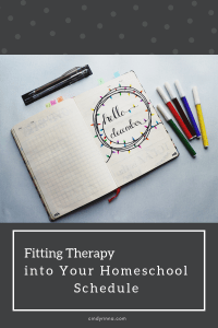 fitting therapy into your homeschool schedule via cindyrinna.com
