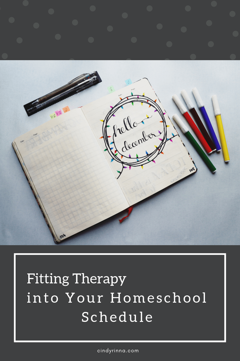 Fitting Therapy Into Your Homeschool Schedule