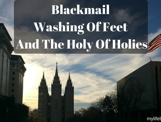 What does Blackmail have to do with the Holy of Holies? Or the Washing of Feet? A lot! Here is a brief history of this room within the Salt Lake Temple.