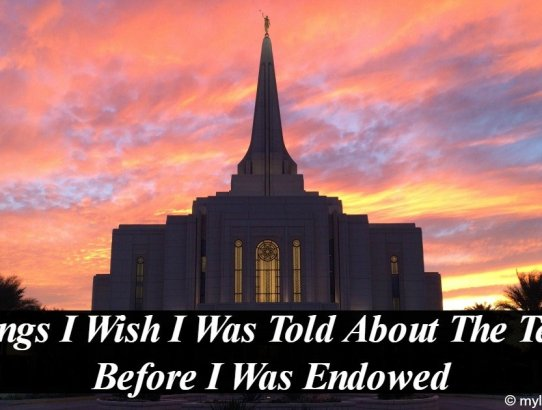 I preface this article with this. I love the temple, I have been a temple worker, in the past 3 years since returning from my mission I have visited 65 different Temples and gone over 200 times, what I am saying is 100% ok to talk about outside of the temple. Here are 4 things I wish I was told about the Temple before I was Endowed!