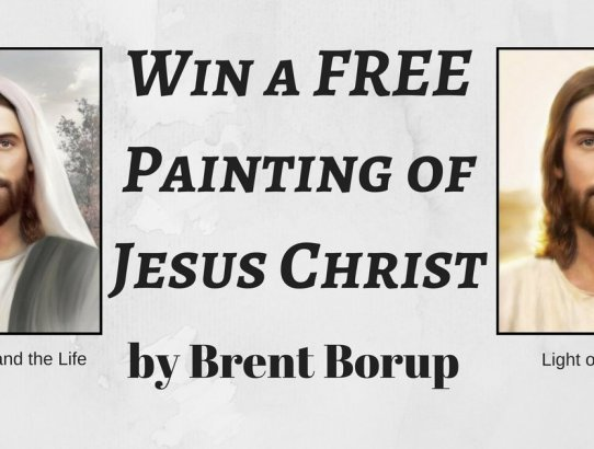 Win a free painting of Jesus Christ by Brent Borup!