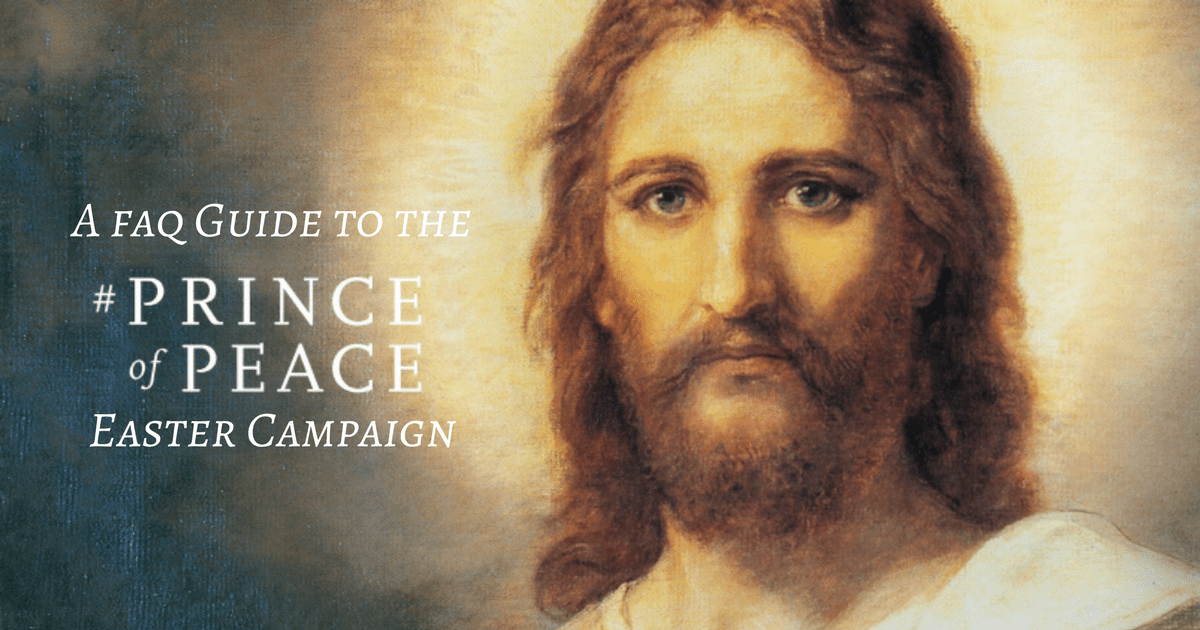 Jesus Christ stands alone as the only hope for peace, he is the #PrinceOfPeace. Join us this Easter in declaring this message to the world.