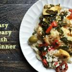 Easy Fish Dinner. Just takes a few ingredients and you can make this delicious dinner in minutes!