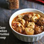 This is a hearty tortellini soup with meatballs and Italian flavors. Only takes minutes to make and is satisfying as a meal.