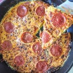 This low carb pepperoni pizza frittata is an easy dish that's great for those pizza cravings. Pizza for breakfast!