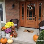 Fall decorating outdoors