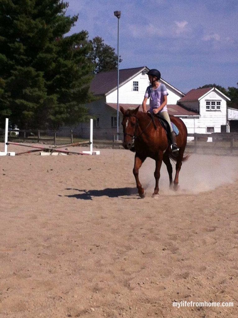 Emma riding horse