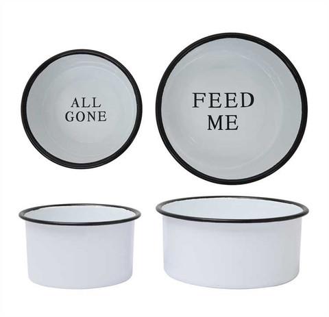Farmhouse pet dish
