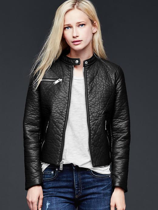 Gap faux leather coat
