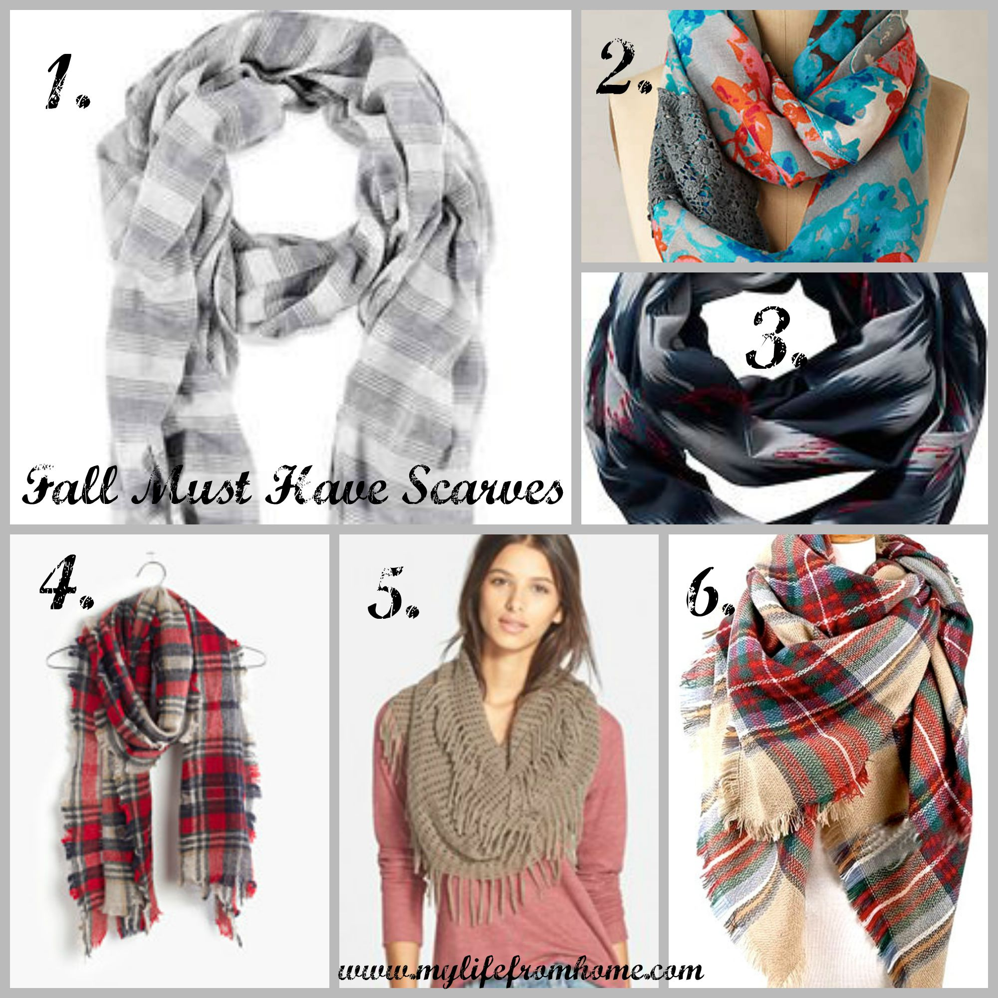 Fall Must Have Scarves by www.mylifefromhome.com