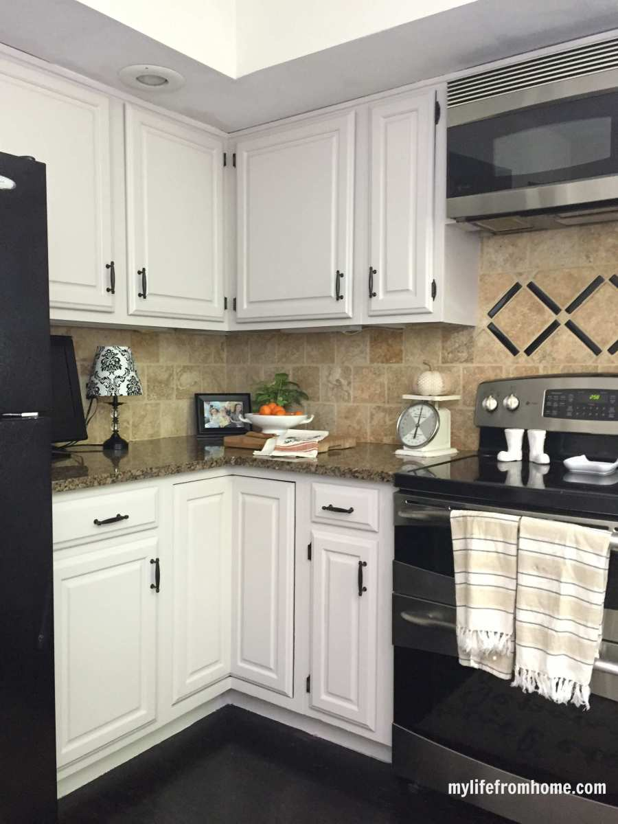 Kitchen Reveal; DIY Painted Cabinets