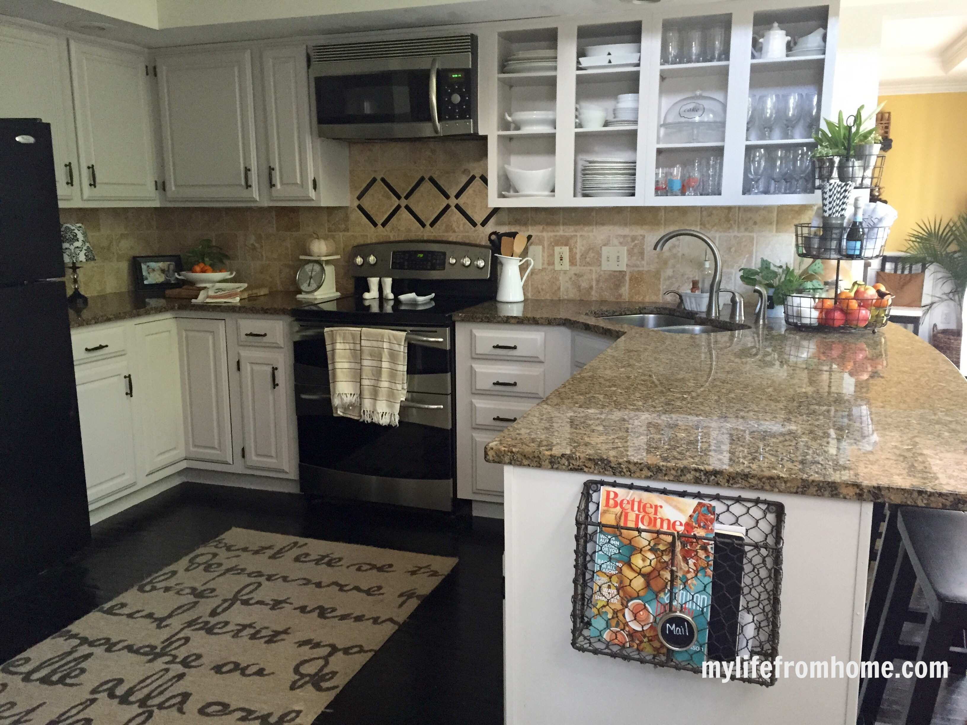 kitchen cabinet with trash bin ikea cabinets cost declutter your home: tips to keeping counters ...