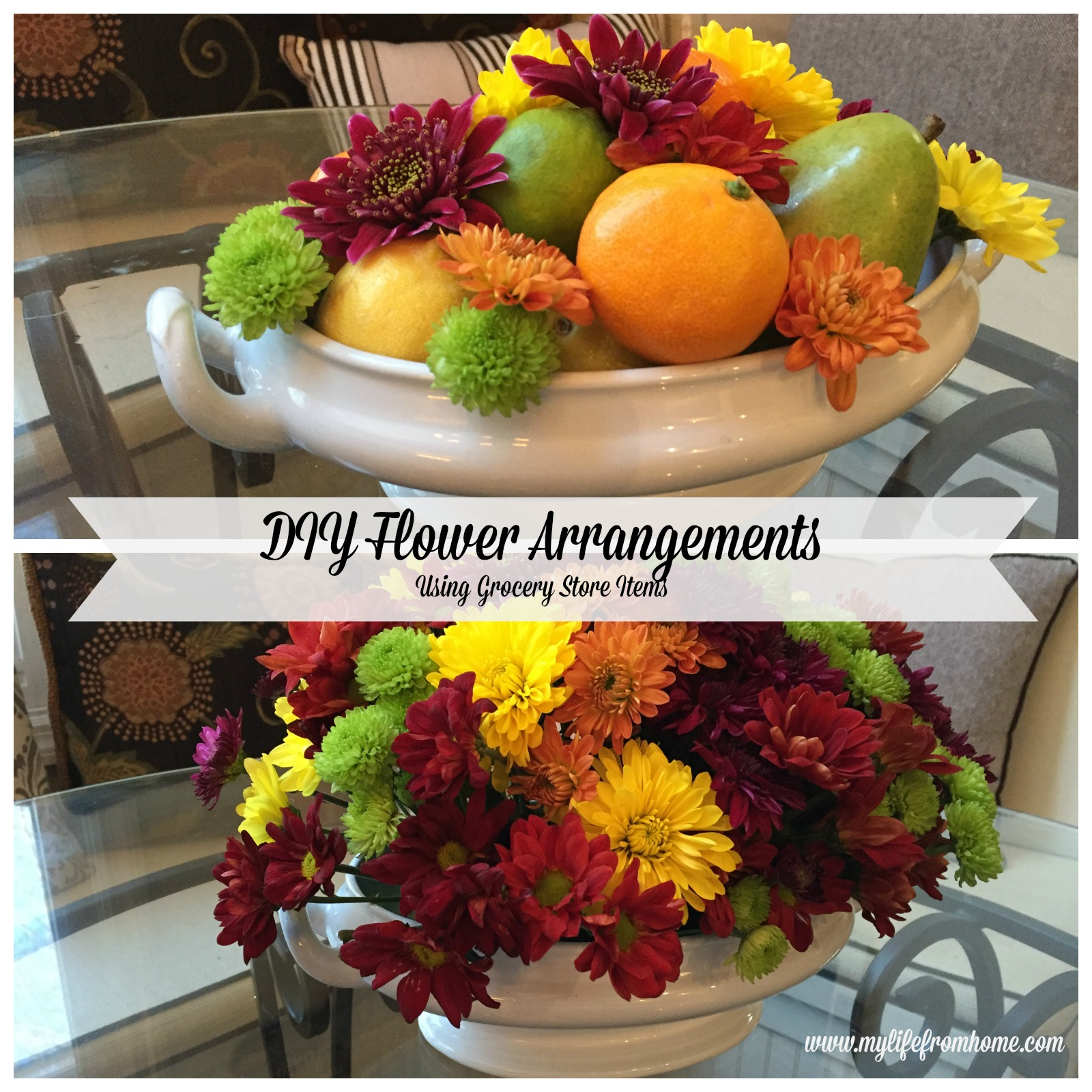 DIY Flower Arrangements by www.mylifefromhome.com