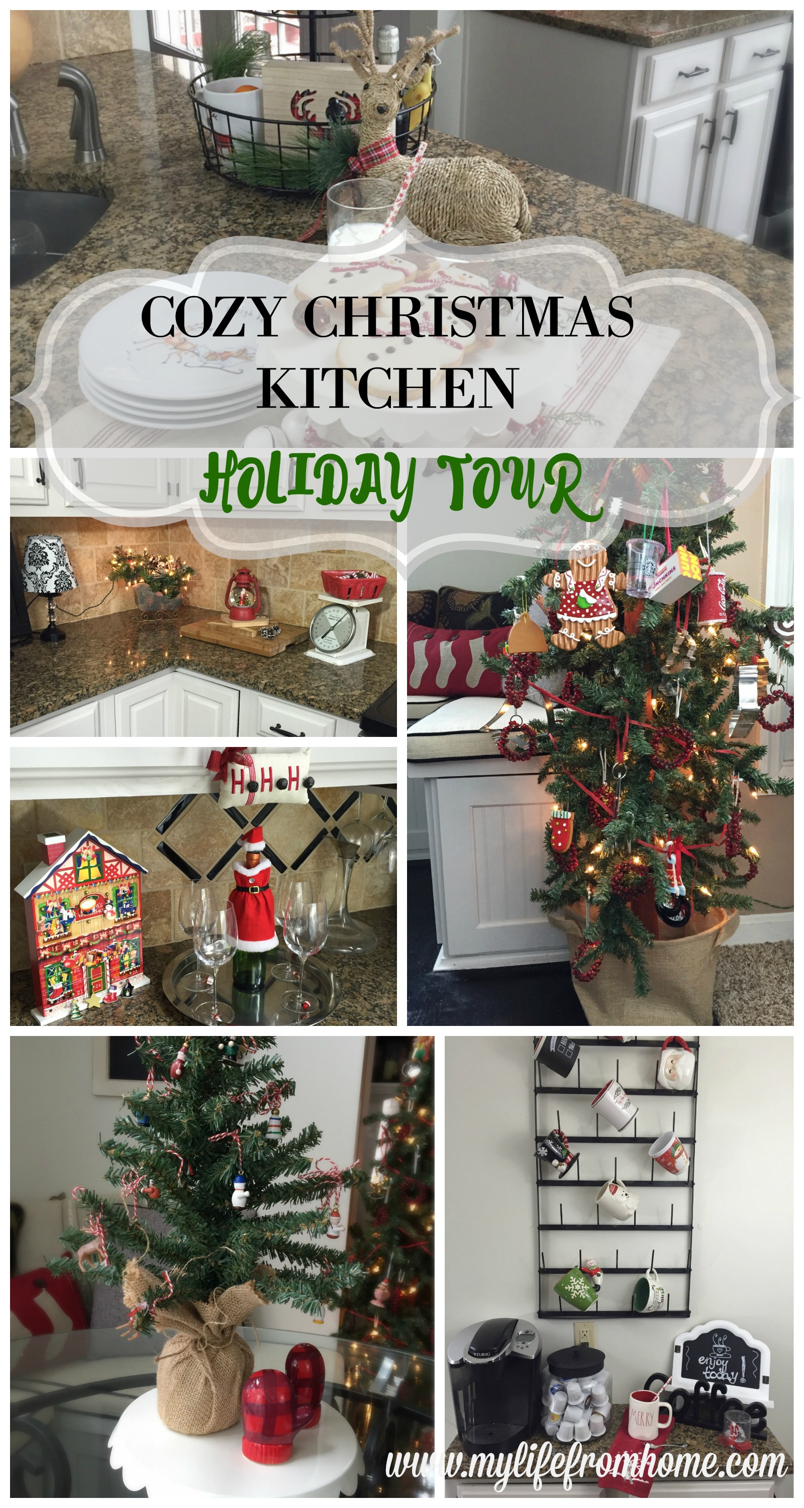 Cozy Christmas Kitchen Holiday Tour by www.mylifefromhome.com