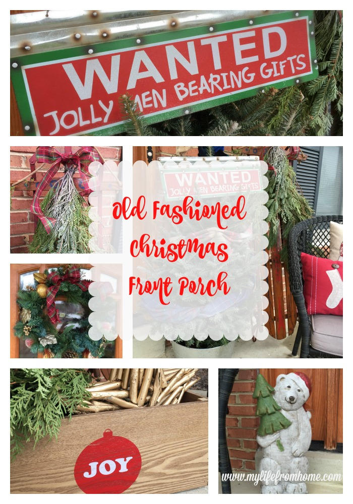 Old Fashioned Christmas Front Porch by www.mylifefromhome.com