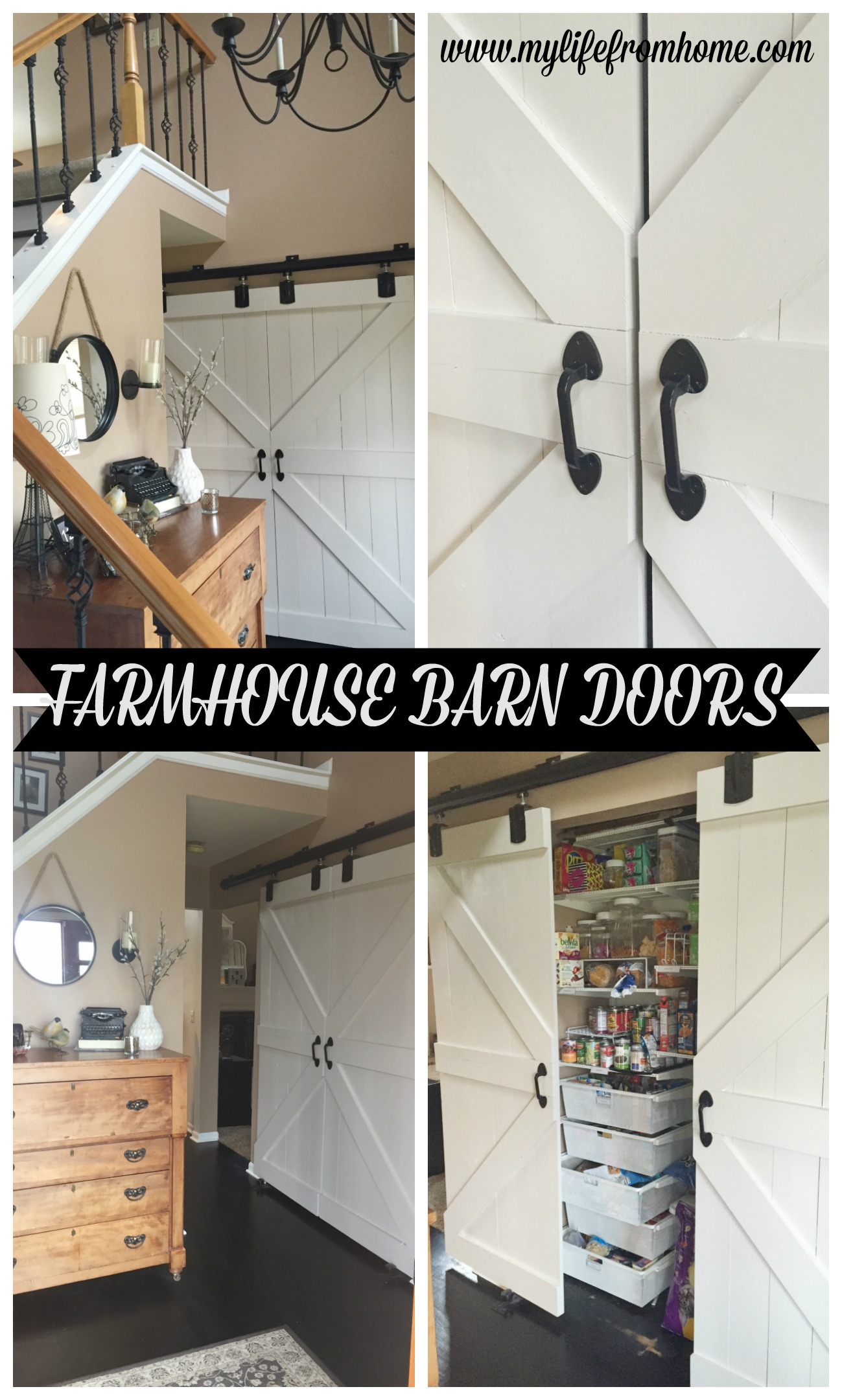 Farmhouse Barn Doors by www.mylifefromhome.com