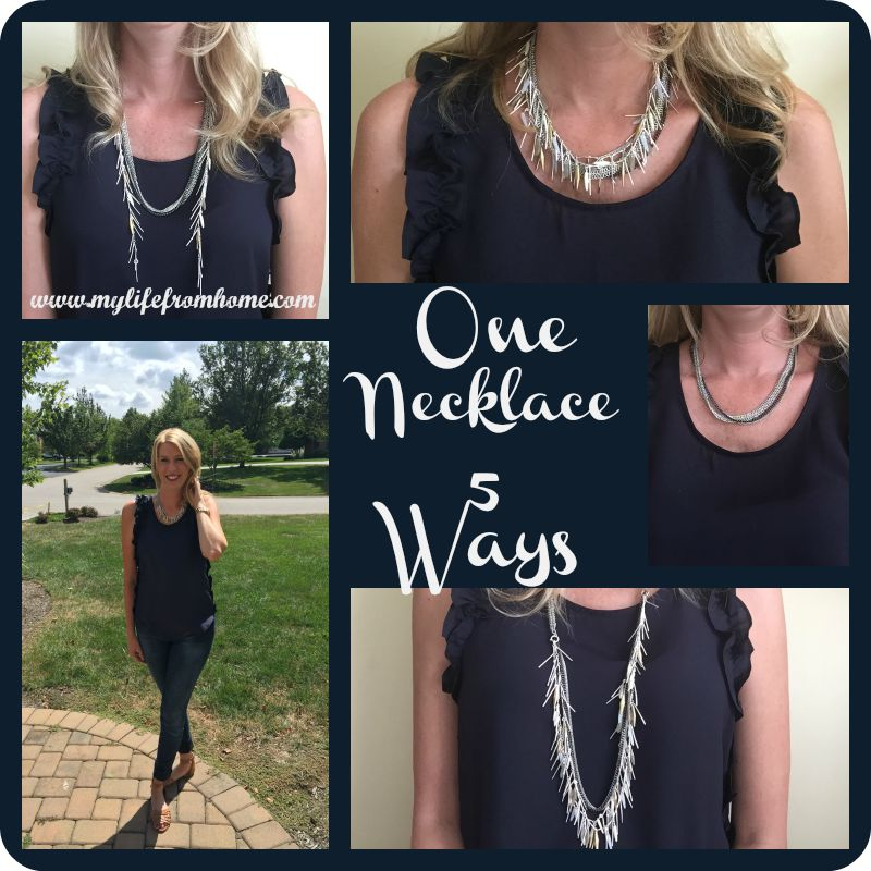 One Necklace 5 ways by www.mylifefromhome.com