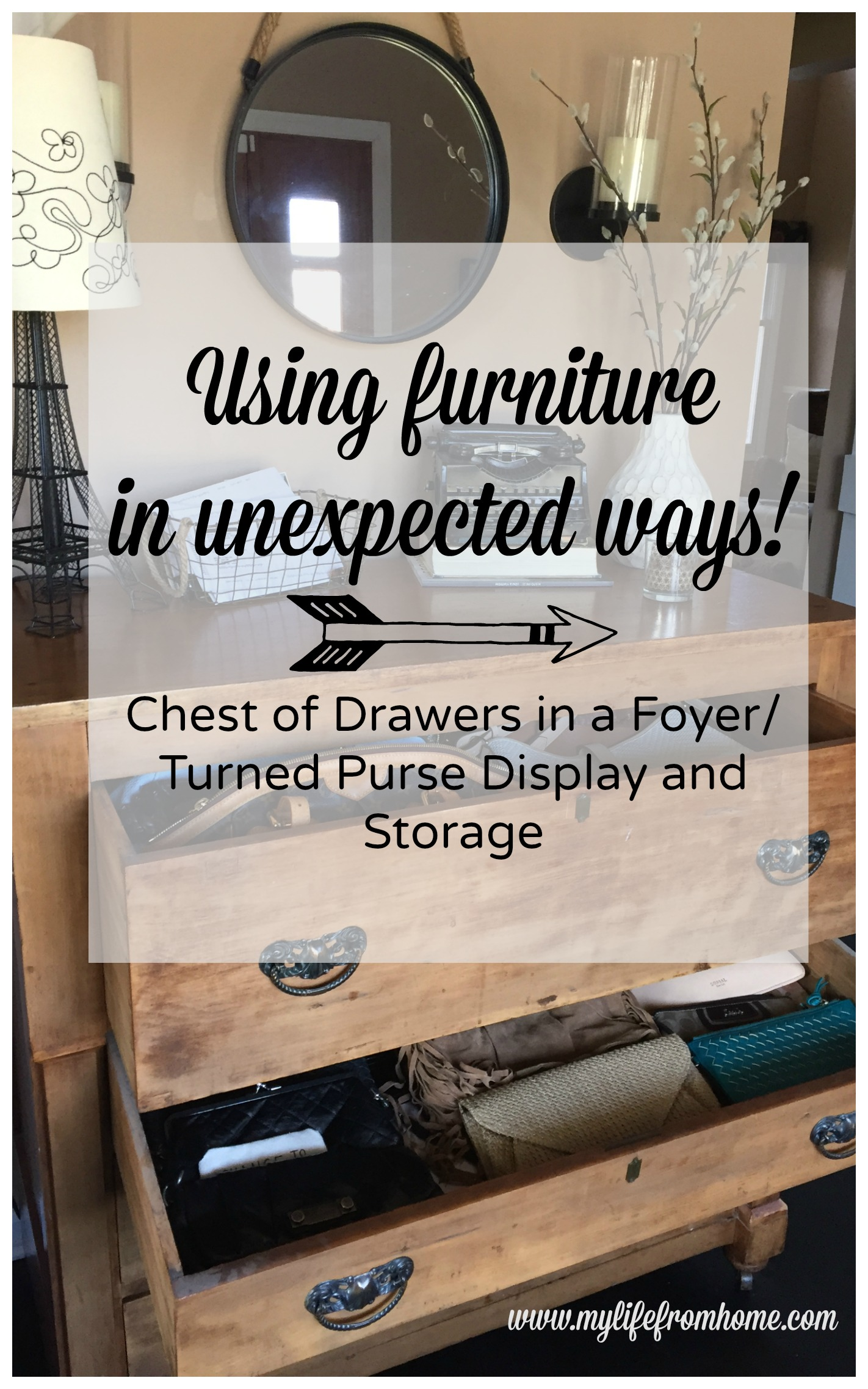 Using furniture in unexpected ways by www.mylifefromhome.com