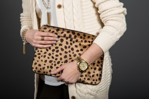 Statement purse as a focal point to an outfit