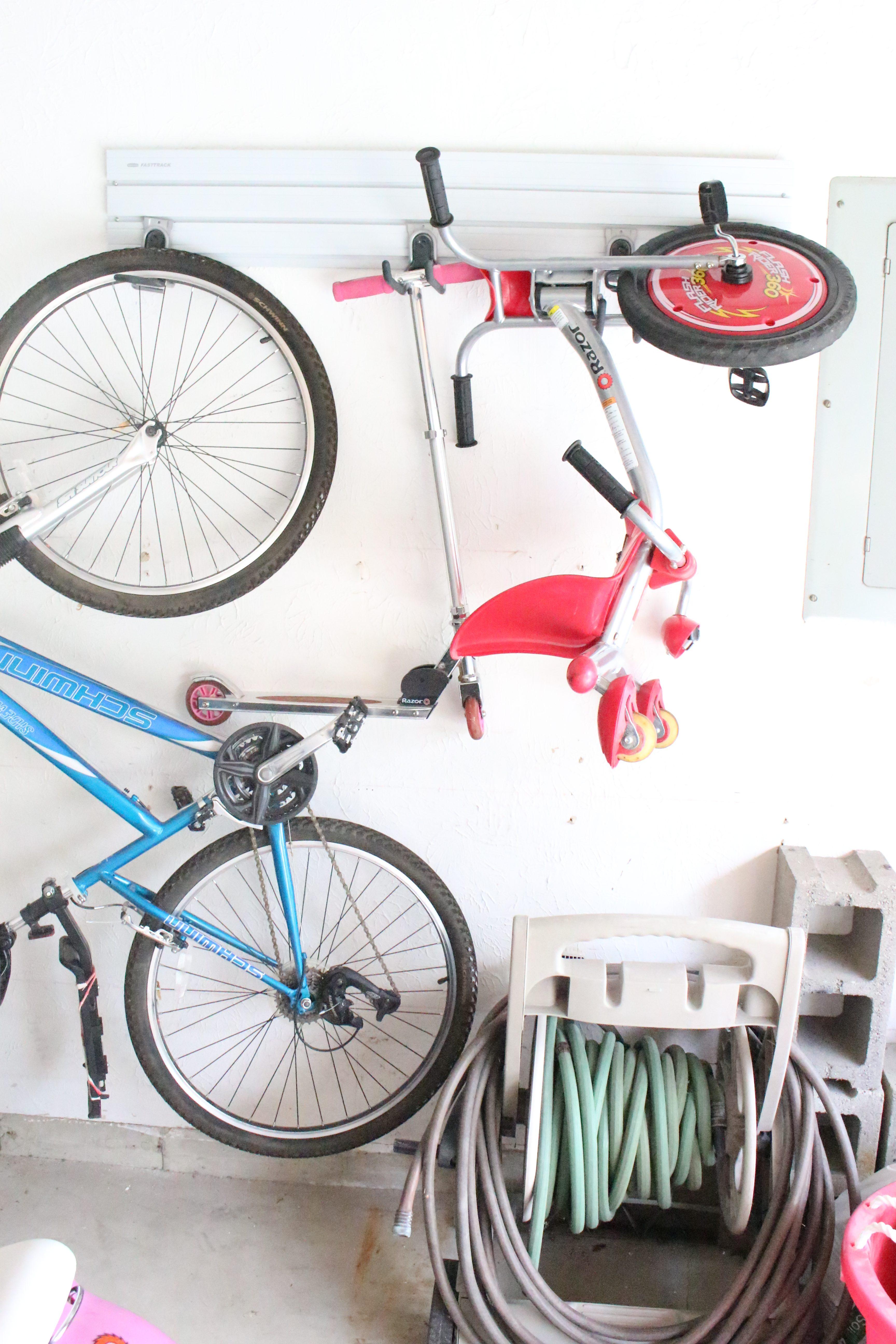 RubberMaid Fast Track Garage System |garage cleanup | Home Depot | Organizing a garage | garage system |
