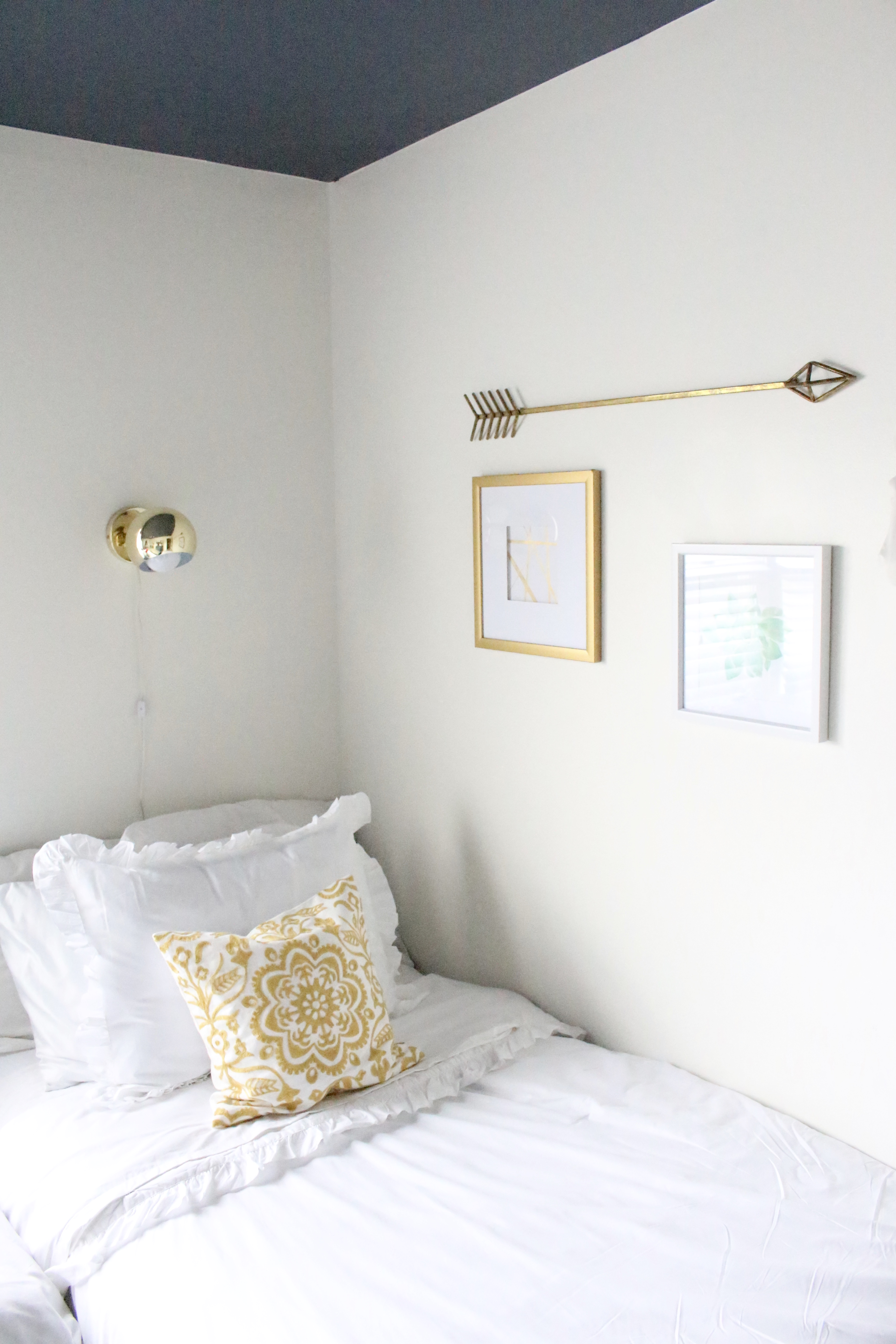 One Room Challenge Space- ORC- Modern Teen Hangout Bedroom- Tween Bedroom- Bedroom Redo- Modern- Colorful Room- Girls Bedroom- Minted Art Work- At Home stores- Room Redo