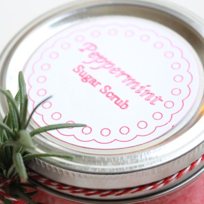 DIY Peppermint Body Scrub