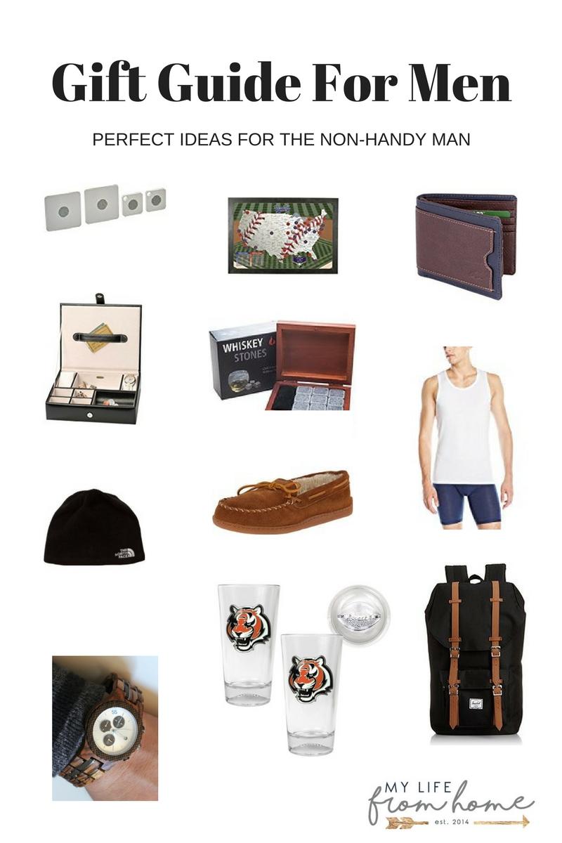 gift-guide-for-men- Christmas gifts for men- gift guide for non handy men