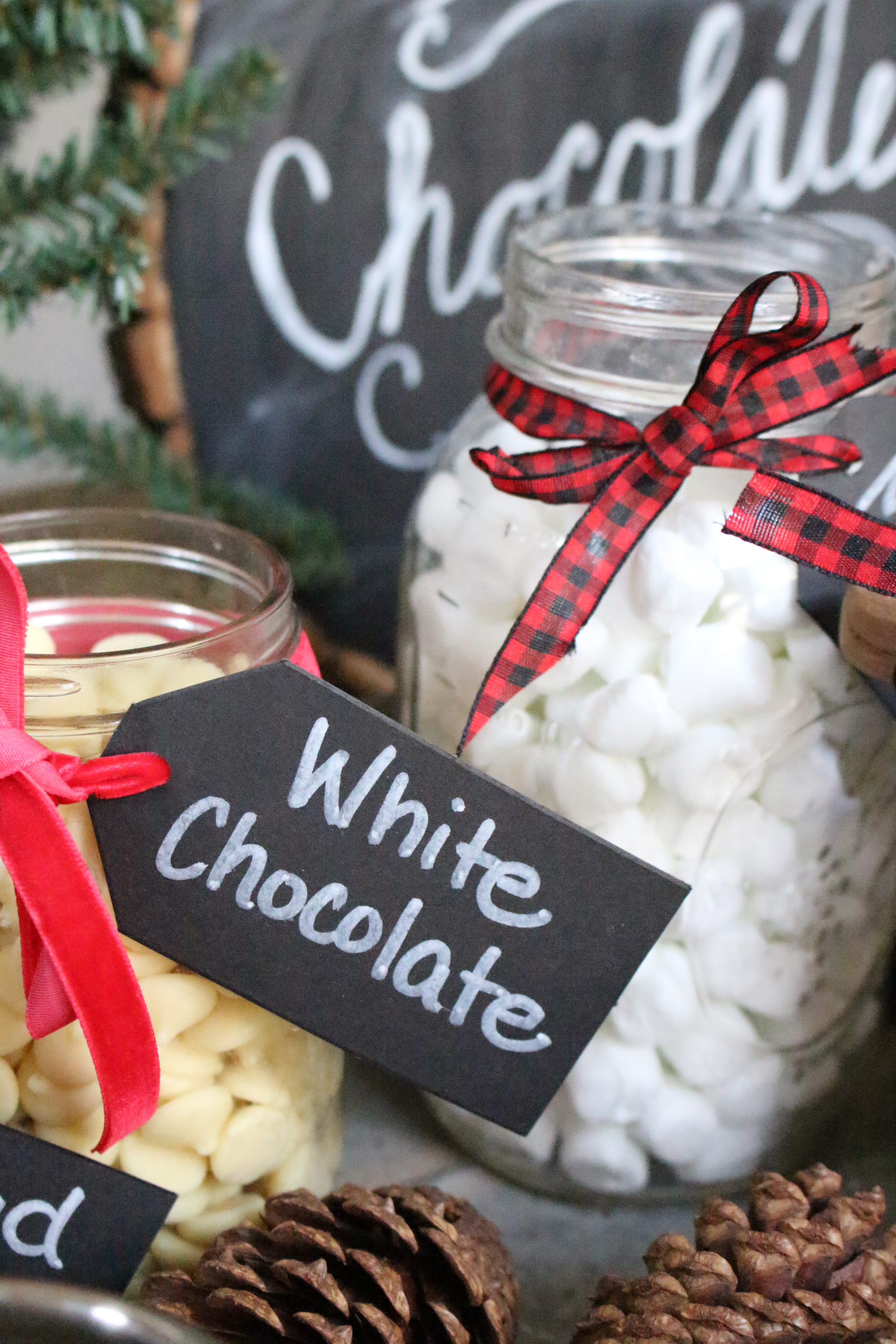 Hot Chocolate Station- winter themed party ideas- snow themed party- entertaining ideas- hot chocolate bar- party ideas- snow themed snacks