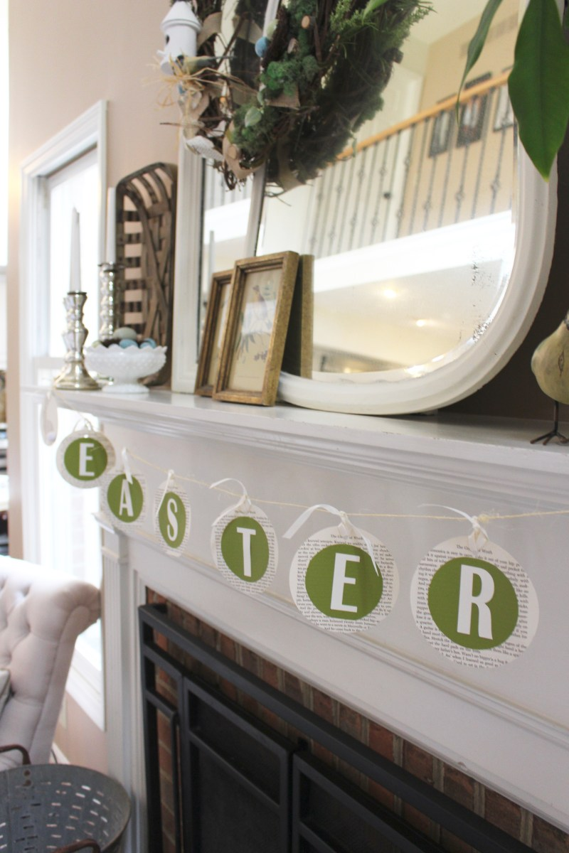 Spring Mantel- Easter decor- ideas for decorating your mantel for spring- Easter- mantel decor- spring decor