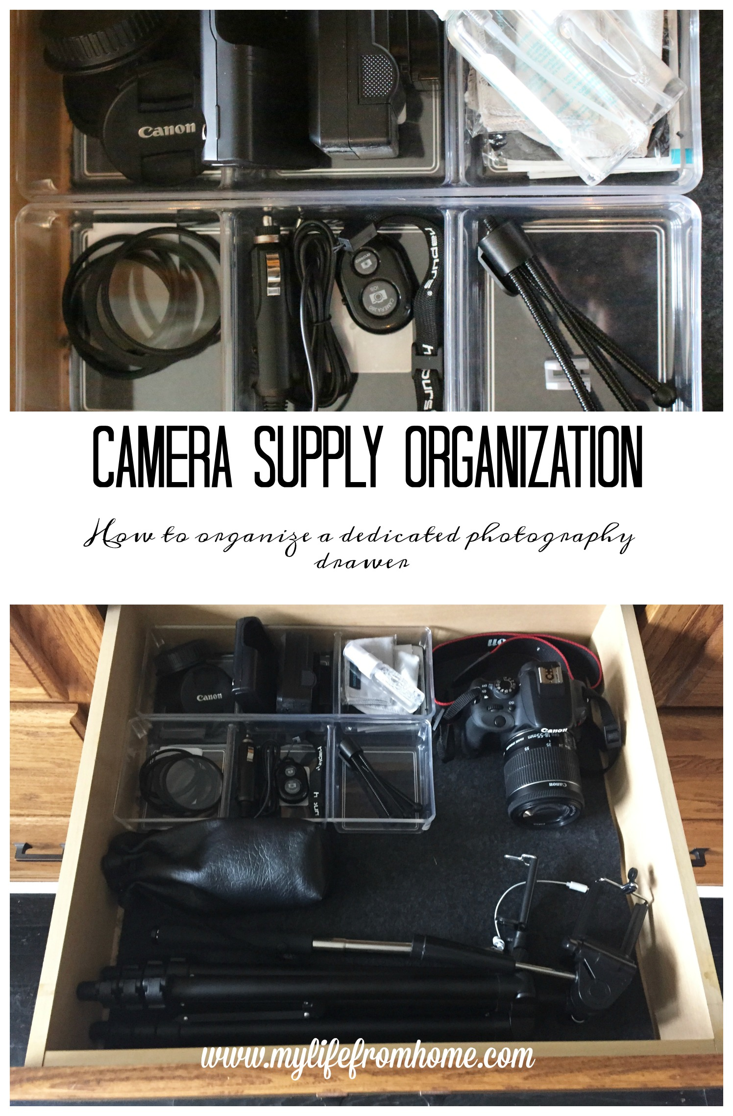 Organize Me Camera Supply Drawer My Life From Home
