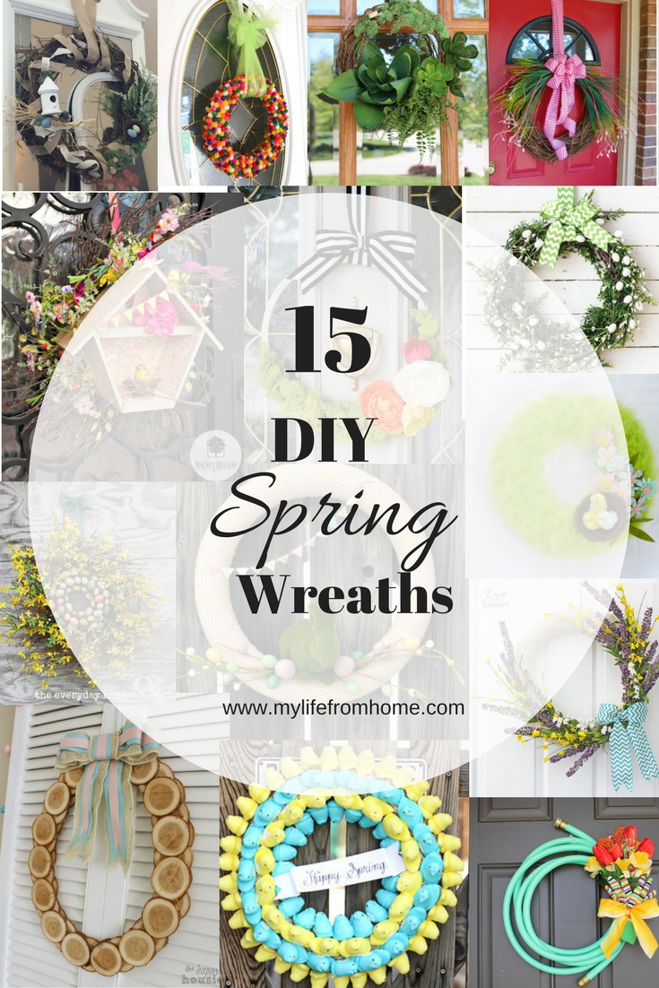 DIY Spring Wreaths- spring decor- crafts for spring- DIY wreaths- spring wreaths- wreaths