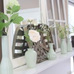 Decorate Your Mantel: Faux Milk Glass Mantel for Spring