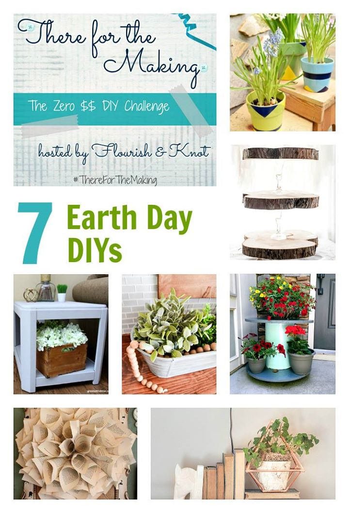 DIY Earth Day Projects- There for the Making- craft projects using recycled materials- upcycle- recycling
