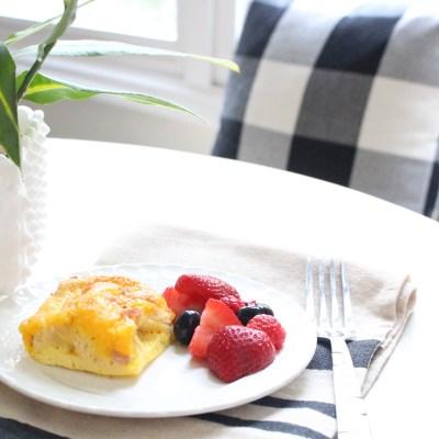Ham & Cheese Breakfast Casserole