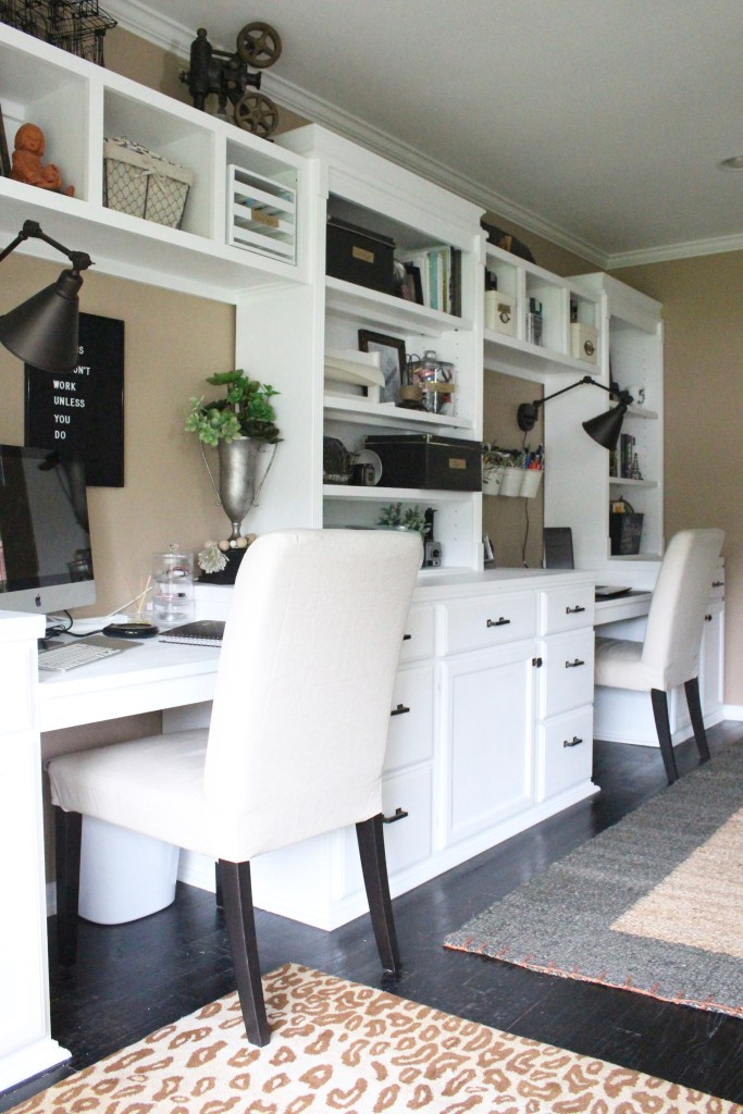 lovely home office storage ideas | Room by Room~ An Organized Office Space | My Life From Home