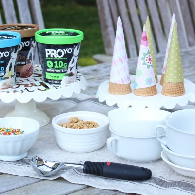 ProYo Ice Cream, Party Planning, Summer, Ice Cream, Ice Cream Cone Wraps, DIY Cone Wraps, Food, Desserts, Healthy Treat, Printables
